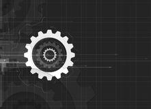 Machine technology gears. retro gearwheel mechanism bacground Royalty Free Stock Images
