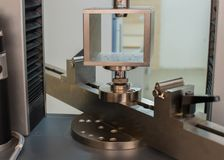 Machine for testing samples for tensile strength.  Royalty Free Stock Photo