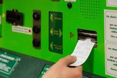 Machine tickets Stock Image
