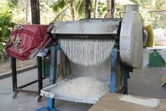 Machine to make noodles, Vietnam. Machine to make rice noodles, Vietnam Stock Photo