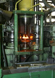Machine tool. Heating of metal for processing stock photos