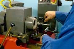 Machine-tool polishing Royalty Free Stock Images
