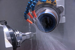 The machine for tool sharpening. By a diamond disk at great speed royalty free stock photography