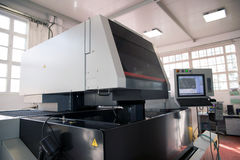 Machine tools with Computer Numerical Control (CNC) Stock Images