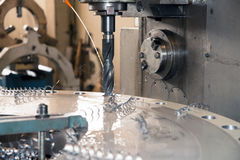 Machine tools with Computer Numerical Control (CNC) Royalty Free Stock Photo