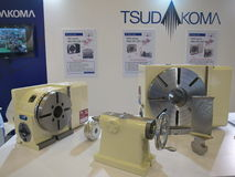 Machine tools from tsudakoma japan in Metallex 2014 bitec bangna ,thailand. Metallex  as the event of the manufacturing industry, 2,700 brands of metalworking Royalty Free Stock Image