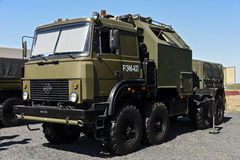Machine-tow truck REM-KL. Engineering machine REM-KL, Kadamovskiy, Russia, September 11, 2016. Forum `Army-2016`. Entry and shooting free royalty free stock image