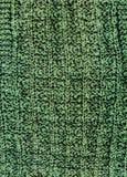 Machine tricotant la texture vert-foncé de laine Photographie stock libre de droits