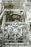 Machine turbine in oil and gas plant for drive compressor unit for operation. Turbine working with long time and controlled logic. By automation system, machine stock images