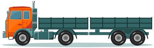 Machine With Two Empty Trailers, Vector Stock Photos