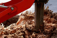 Machine for uprooting stumps Royalty Free Stock Images
