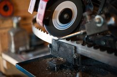 The machine for sharpening the band saw. royalty free stock image