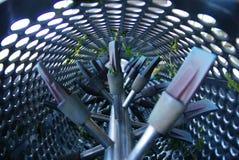 Machine utilisée pendant la récolte de raisin Images stock