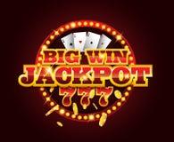 Machine van casino de vector gouden groeven met 777 aantallen Royalty-vrije Stock Fotografie