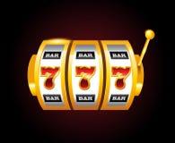 Machine van casino de vector gouden groeven met 777 aantallen Royalty-vrije Stock Afbeeldingen