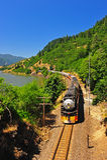 Machine à vapeur Pacifique méridionale de jour Images libres de droits