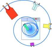 machine vektortvätten Arkivbild