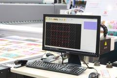 Machine voor de vervaardiging van serie en omloopproducten in diverse industrieën stock afbeelding