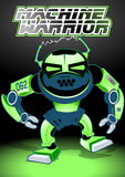 Machine warrior. Vector illustration of a green robot Stock Image