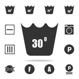 Machine wash at 30 degrees icon. Detailed set of laundry icons. Premium quality graphic design. One of the collection icons for we. Bsites, web design, mobile Stock Photo