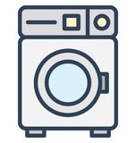 Machine, washing Isolated Vector Icon That can be easily edited in any size or modified. stock illustration