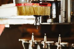 Machine working cnc, woodworking tool, computer numerical control. Machine working cnc, woodworking tool. Device with computer numerical control, various router royalty free stock photography