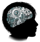 Machine Workings Gears Cogs Brain Child Concept Stock Photography