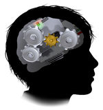 Machine Workings Gears Cogs Brain Child Stock Photo