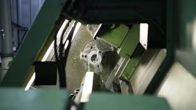 The machine workpieces stock video footage