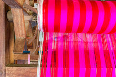 Machine woven silk Old-style thailand. Stock Photography