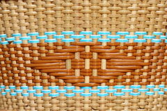Machine woven wicker with a beautiful pattern. Royalty Free Stock Photo