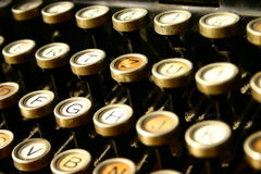 Machine for writing. Old machine for writing. Antique typewrite Stock Photography