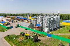 Machine yard of modern agricultural firm. Tyumen Stock Image