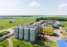 Machine yard of modern agricultural firm. Tyumen Royalty Free Stock Image