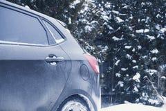 20180120-Machine zimy Lasowa Śnieżna podróż obraz stock