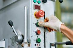 Machinecontrolebord bij Fabriek Royalty-vrije Stock Fotografie