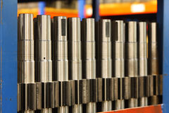 Machined parts Stock Photo