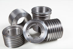 Machined steel parts Stock Photography