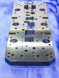 Machined steel plate for manufacturing tooling Royalty Free Stock Images