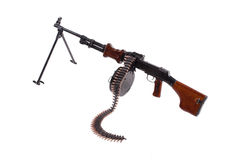 Machinegun with ammo chain Royalty Free Stock Photography