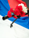 Machinegun And Flowers Royalty Free Stock Images