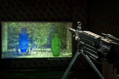 Machinegun and two targets Stock Photography