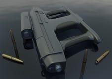 Machinepistool -2 beeld 5 Stock Afbeeldingen