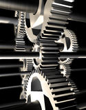 Machinery. 3d image of detail of mechanism stock illustration