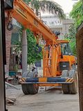 Lifting machinery by JCB stock images