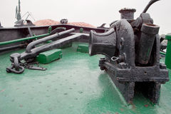 Machinery anchor ship. Auxiliary machinery and equipment on board Royalty Free Stock Photo
