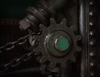 Machinery. Antique machinery on a traction engine Stock Photos