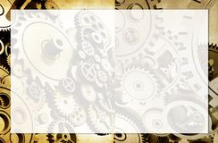 Machinery Background. With Light-Up Copy Space. Gear Cog Wheels Design Royalty Free Stock Photo