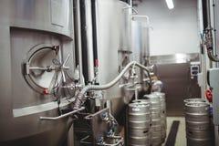 Machinery at brewery Stock Photo