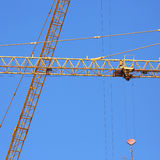 Machinery construction crane Stock Images